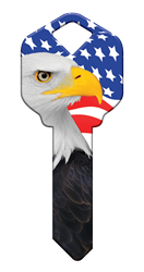 HK57 - Eagle Liberty house, happy, key, keys, eagle, liberty, freedom, flag, america, american, kw1, kw10, sc1, wr5